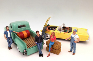 Hanging Out 6 Piece Figure Set For 1:18 Scale Models American Diorama 23853 23854 23855 23856 23857 23858
