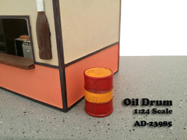 Oil Drum Accessory Set of 2 For 1:24 Scale Models American Diorama 23985