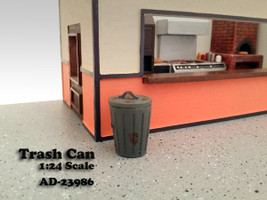 Trash Can Accessory Set of 2 For 1:24 Scale Models American Diorama 23986