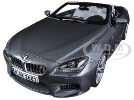 BMW M6 F12M Convertible Space Grey 1/18 Diecast Car Model Paragon 97062