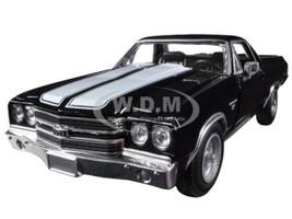1970 Chevrolet El Camino SS Black 1/25 Diecast Car Model New Ray 71883