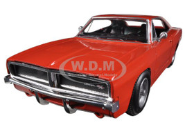 1969 Dodge Charger R/T Orange 1/25 Diecast Car Model New Ray 71893