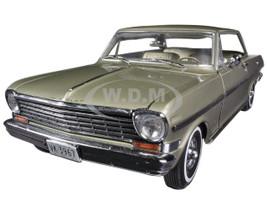 1963 Chevrolet Nova Hard Top Autumn Gold 1/18 Diecast Car Model Sunstar 3967