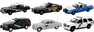 Set of 6 Police Cars Release #1 1/43 Diecast Car Models First Response FR-43-R01