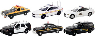 Set of 6 Police Cars Release #2 1/43 Diecast Car Model First Response FR-43-R02