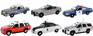 Set of 6 Police Cars Release #3 1/43 Diecast Car Models First Response FR-43-R03