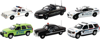 Set of 6 Police Cars Release #4 1/43 Diecast Car Models First Response FR-43-R04