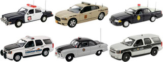 Set of 6 Police Cars Release #5 1/43 Diecast Car Models First Response FR-43-R05