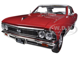 1966 Chevrolet Chevelle SS 396 L78 Red Christmas Edition 1/18 Limited to 750pc Autoworld AMM1041