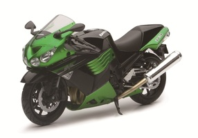 2011 Kawasaki ZX-14 Ninja Green Motorcycle Model 1/12 New Ray 57433B