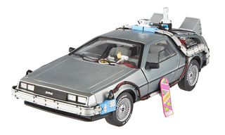 Elite Cult Classics Back To The Future Time Machine Delorean with Extras and Mr. Fusion 1/18 Diecast Car Model Hotwheels BCJ97