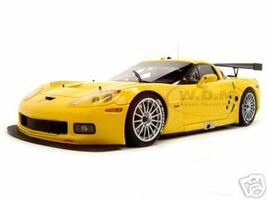 Chevrolet Corvette C6R Plain Body Version Yellow 1 of 3000 Made 1/18 Diecast Model Car Autoart 80551
