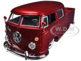 1963 Volkswagen Bus Pickup Red 1/24 Diecast Model Car Jada 96957