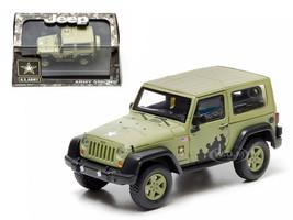 2012 Jeep Wrangler U.S. Army Hard Top Light Green With Display Showcase 1/43 Diecast Model Greenlight 86042
