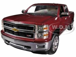 2014 Chevrolet Silverado LTZ Z71 Crew Cab in Deep Ruby Metallic with Black Interior 1/24 Diecast Car Model Norscot 65108
