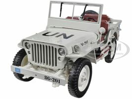 1/4 Ton UN WW 2 Jeep Beige 1/18 Diecast Jeep Model Welly 18036