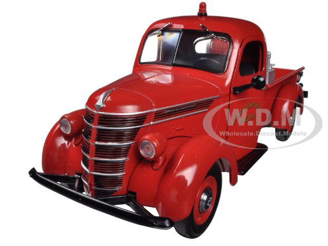 1938 International D-2 Pickup Truck with Brush Fire Body 1/25 Diecast Model First Gear 40-0338
