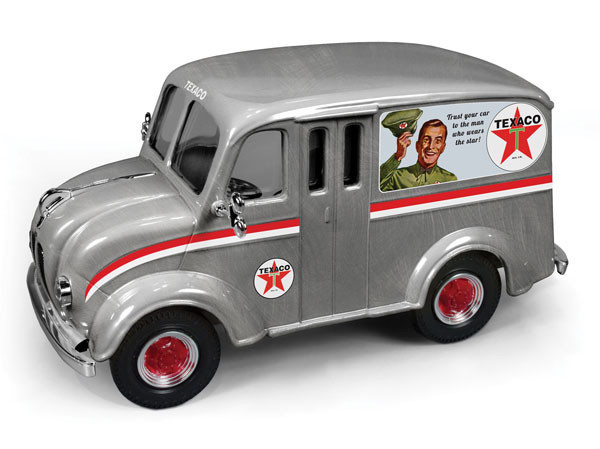 """1950 Divco Delivery Truck """"Texaco"""" (2014) Brushed Metal Special Edition Series #31 1/25 Diecast Model Car Autoworld CP7156"""