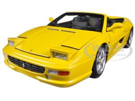 Ferrari F355 Spider Convertible Yellow Elite Edition 1/18 Diecast Car Model Hotwheels BLY35