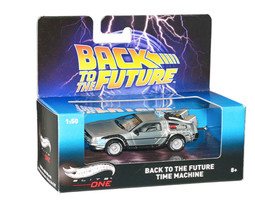 """Delorean Back To The Future """"Time Machine"""" Elite 1/50 Diecast Model Car Hotwheels BLY16"""