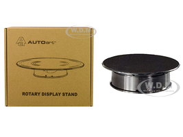 Rotary Display Stand Small 8 Inches Black Top 1/64 1/43 1/32 1/24 Scale Models Autoart 98017