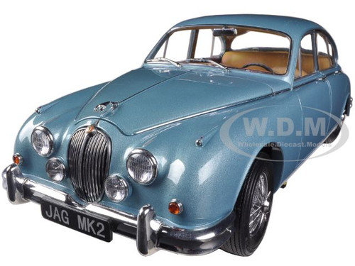 1962 Jaguar Mark 2 3.8 Opalescent Blue 1/18 Diecast Car Model Paragon 98321