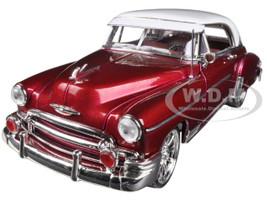 1950 Chevrolet Bel Air Metallic Dark Red Custom 1/18 Diecast Car Model Motormax 79007