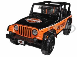 Jeep Wrangler Rubicon Harley Davidson Orange/Black 1/27 Diecast Model Maisto 32190