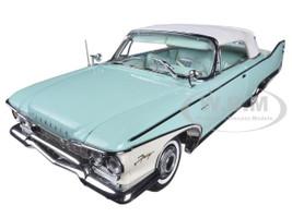 1960 Plymouth Fury Closed Convertible Aqua Mist Platinum Edition 1/18 Diecast Car Model Sunstar 5411
