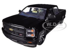 2014 Chevrolet Silverado Pickup Truck Black Custom Edition 1/24 Diecast Model Jada 97026 XN