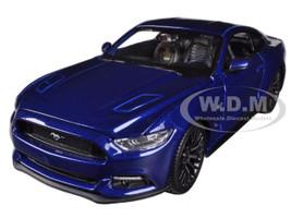 2015 Ford Mustang GT 5.0 Blue 1/24 Diecast Car Model Maisto 31508