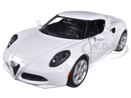 Alfa Romeo 4C White 1/24 Diecast Car Model Motormax 79320