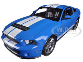 2010 Ford Shelby Mustang GT500 Blue 1/18 Diecast Car Model Shelby Collectibles 329