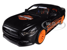 2015 Ford Mustang Harley Davidson Black 1/24 Diecast Car Model Maisto 32188