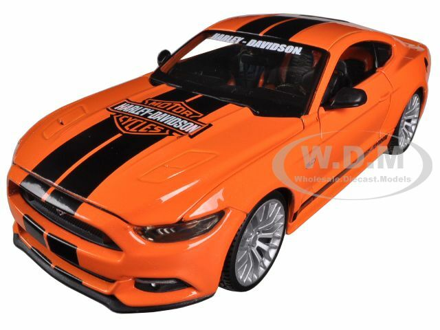 2015 Ford Mustang Harley Davidson Orange 1/24 Diecast Car Model Maisto 32188