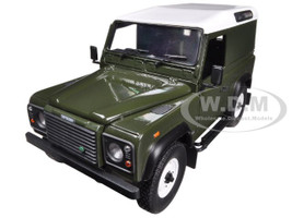 Land Rover Defender 90 Hard Top Green 1/18 Diecast Car Model Universal Hobbies 3882