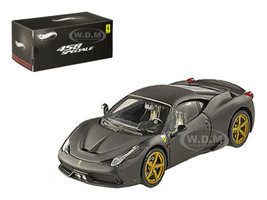 Ferrari 458 Italia Speciale Matt Black Elite Edition 1/43 Diecast Model Car Hotwheels BLY47