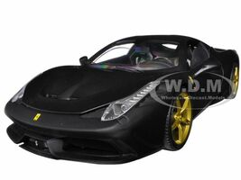 Ferrari 458 Speciale Elite Edition Matt Black 1/18 Diecast Car Model Hotwheels BLY33