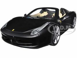 Ferrari 458 Italia Spider Matt Black 1/24 Diecast Car Model Hotwheels BLY65