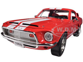 1968 Ford Shelby Mustang GT500KR Red 1/18 Diecast Car Model Road Signature 92168