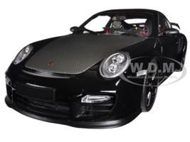 Porsche 911 (997 II) GT2 RS Black with Black Wheels 1/18 Diecast Model Car Minichamps 100069404