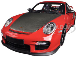 Porsche 911 (997 II) GT2 RS Red with Black Wheels 1/18 Diecast Model Car Minichamps 100069407