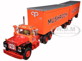 Mack R Model Mushroom With 28' Pup Trailers 1/64 First Gear 60-0286