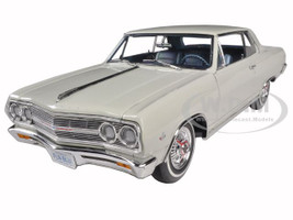 1965 Chevrolet Chevelle Malibu SS L79 Ermine White Limited to 528pc Diecast Model Car 1/18 Acme A1805303