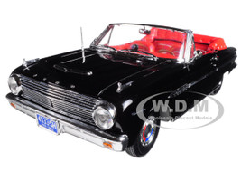 1963 Ford Falcon Open Convertible Raven Black 1/18 Diecast Model Car Sunstar 4533