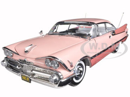 1959 Dodge Custom Royal Lancer Hard Top Rose Quartz/Coral Platinum Edition 1/18 Diecast Model Car Sunstar 5481