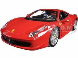 Ferrari 458 Italia Red 1/24 Diecast Model Car Bburago 26003