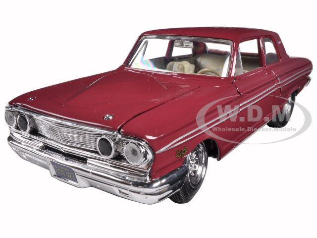 1964 Ford Thunderbolt Burgundy 1/24 Diecast Car Model by Maisto