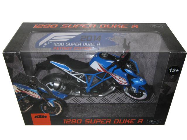 2014 KTM 1290 Super Duke R Patriots Edition Motorcycle Model 1/12 Automaxx 605102