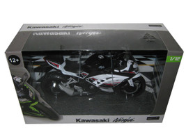 Kawasaki Ninja White Motorcycle Model 1/12 Automaxx 605301